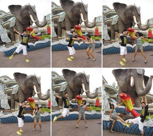 164 JUMP WITH ELEPHANT